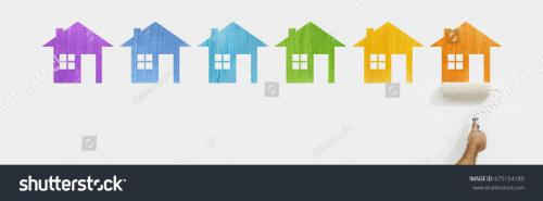 stock-photo-paint-roller-hand-with-colors-house-symbol-painting-on-wall-isolated-on-white-web-banner-675154180